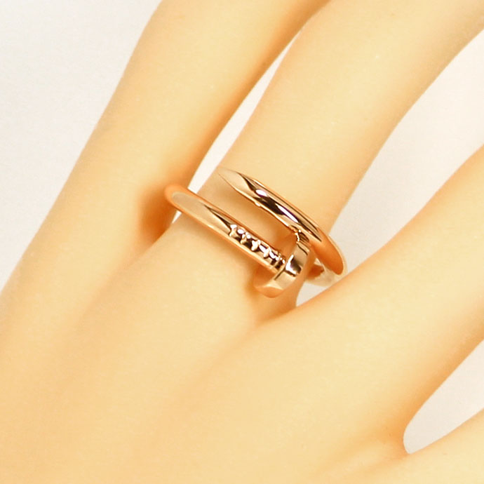 Foto 5, Original Cartier Juste Un Clou Nagelring in Rotgold 18K, R7371