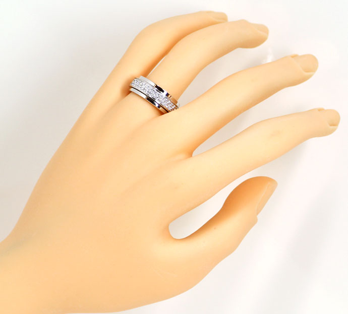 Foto 4, Beweglicher Piaget Possession Brillanten-Ring Weissgold, R7407