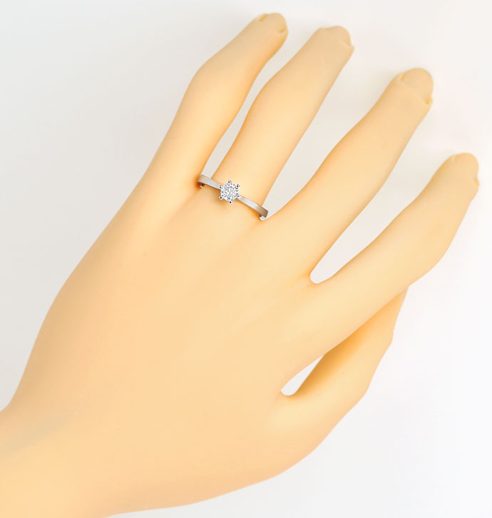 Foto 4, Edler Solitaer-Ring mit 0,40ct Brillant in 18K Gelbgold, R7455