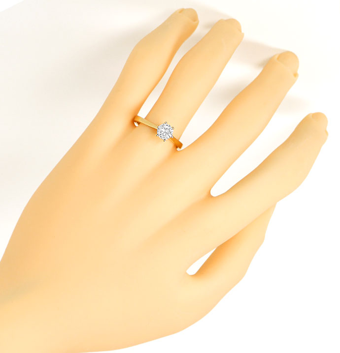 Foto 4, Brilliant Ring 0,71ct River Lupenrein mit IGI Gutachten, R7489