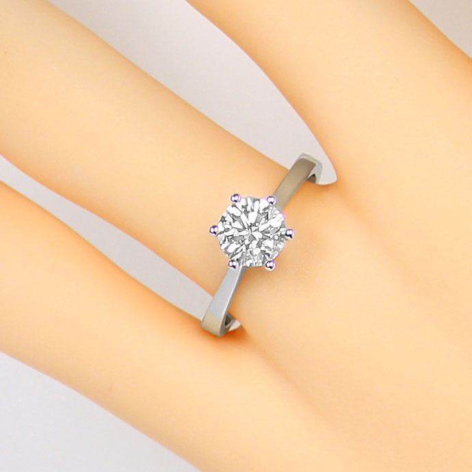 Foto 5, Brillant Solitär 1,09ct Top Wesselton F in Weißgoldring, R7490