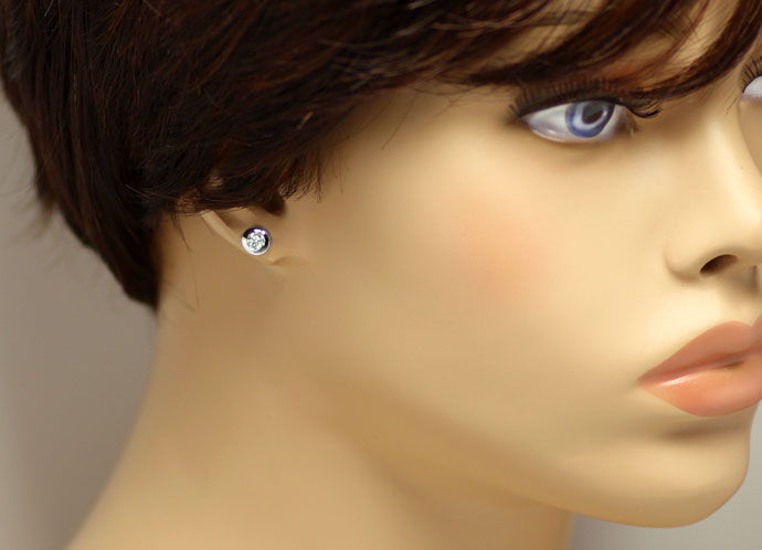 Foto 2 - Weissgold Brilliant Ohrstecker mit 0,52ct Top Wesselton, R7575