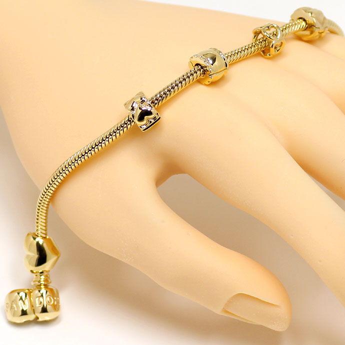 pandora charm armband gold