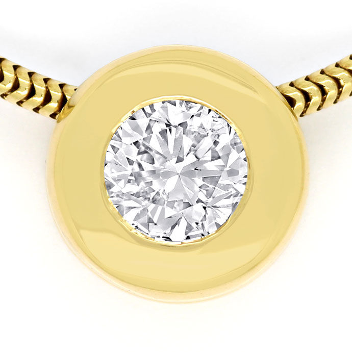 Foto 2, Diamantkollier mit 0,47ct River Brilliant, 18K Gelbgold, R7819