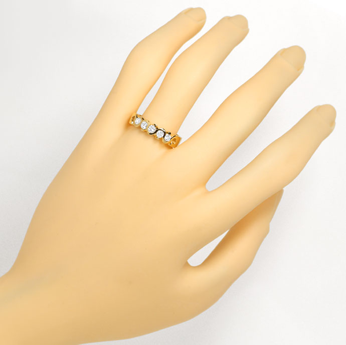 Foto 4, Diamantring Halbmemory Ring 0,48ct Brillanten, Gelbgold, R7844
