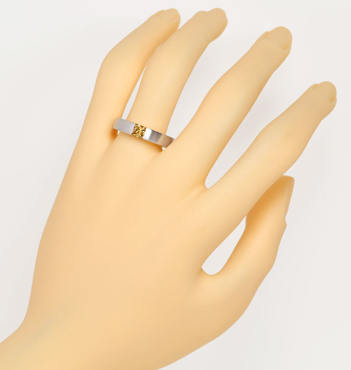 Foto 4 - Weissgoldring 0,56 ct Princess Diamant Fancy Brown, IGI, R7851