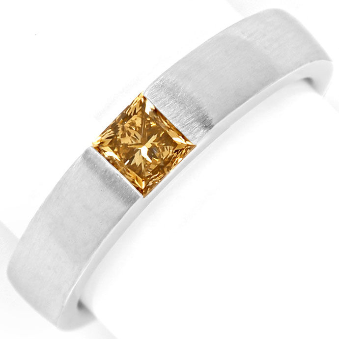 Foto 2, Diamant Ring 0,54ct Princess Diamant IGI, 18K Weissgold, R7852