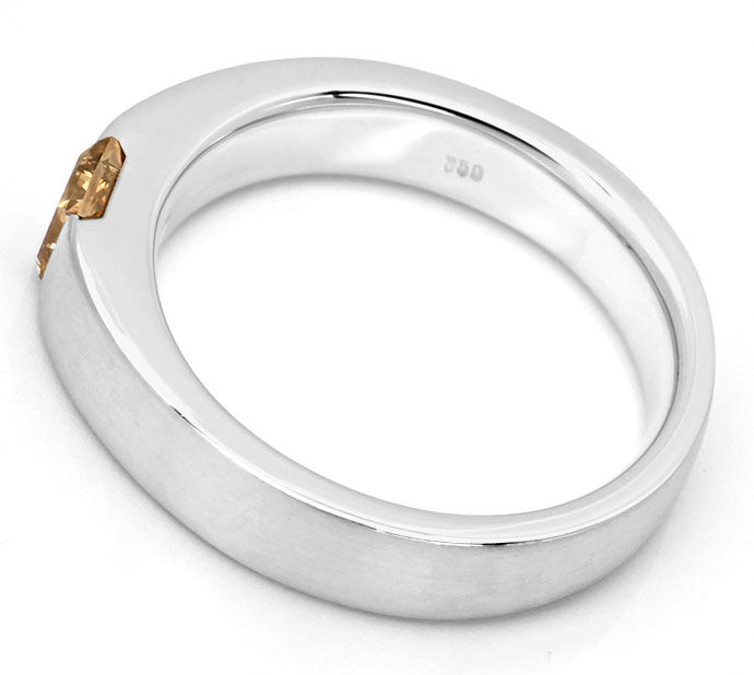 Foto 3, Diamant-Ring 0,54ct Princess-Diamant IGI, 18K Weissgold, R7852