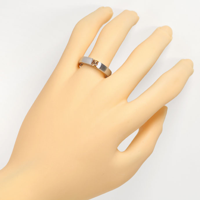 Foto 4, Diamant Ring 0,54ct Princess Diamant IGI, 18K Weissgold, R7852