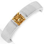 Diamant Ring 0,54ct Princess Diamant IGI, 18K Weissgold