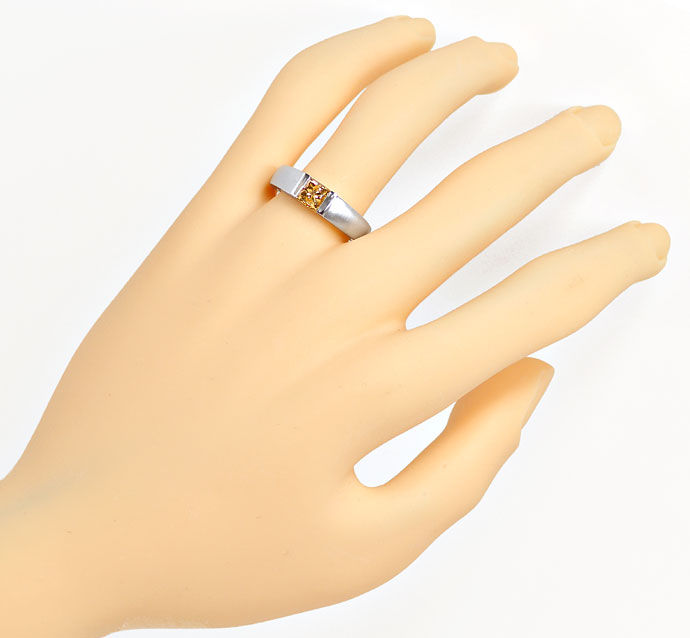Foto 4, Ring mit 1,06ct Princess-Diamant Lupenrein, Fancy Brown, R7866