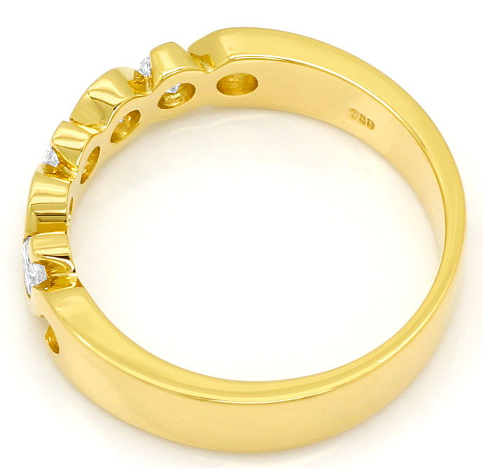 Foto 3 - Halbmemory Diamantenring mit 0,52ct Brillanten 18K Gold, R8070