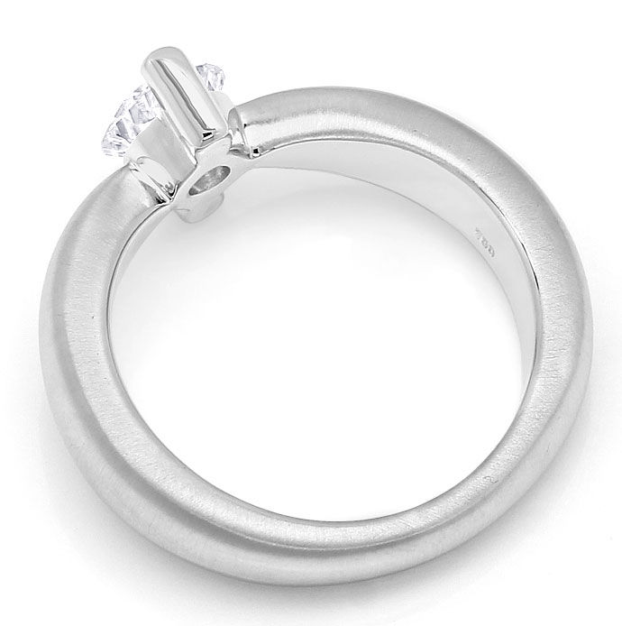 Foto 3 - Diamantring mit 0,78ct Brillant Solitär in 18K Weißgold, R8100