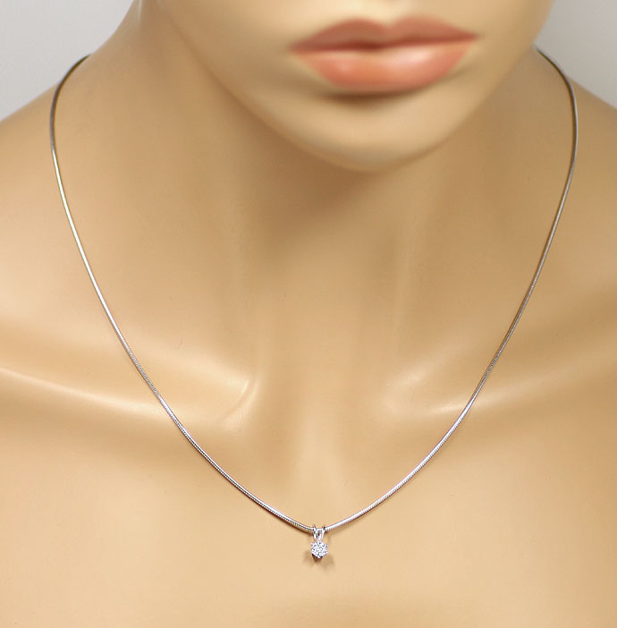 Foto 4 - Diamantkollier 0,29ct Top Wesselton Brilliant Weissgold, R8211