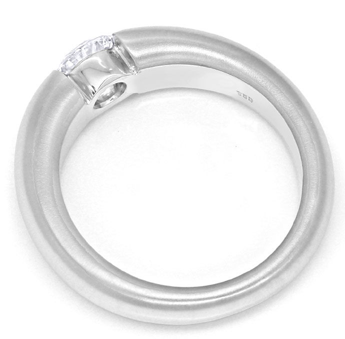 Foto 3, Diamant Spannring 0,61ct Brillant massives Weißgold 750, R8420