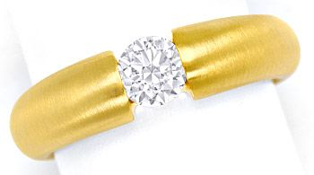 Foto 1, Massiver Gold Spannring mit 0,50ct Brillant in Gelbgold, R8424