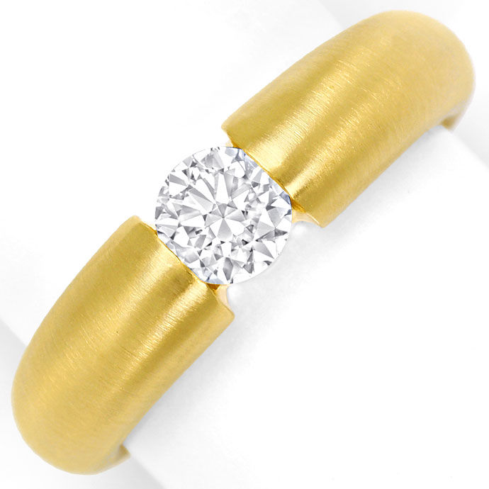 Foto 2, Massiver Gold-Spannring mit 0,50ct Brillant in Gelbgold, R8424