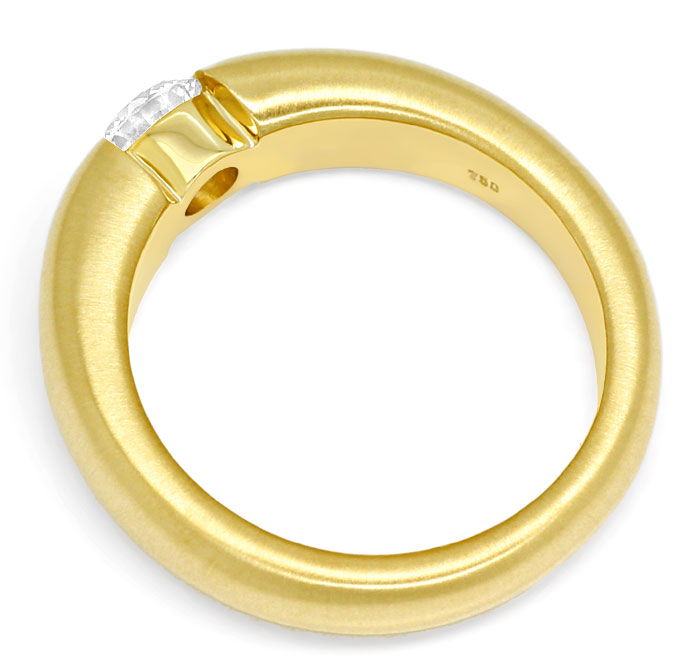 Foto 3, Massiver Gold-Spannring mit 0,50ct Brillant in Gelbgold, R8424