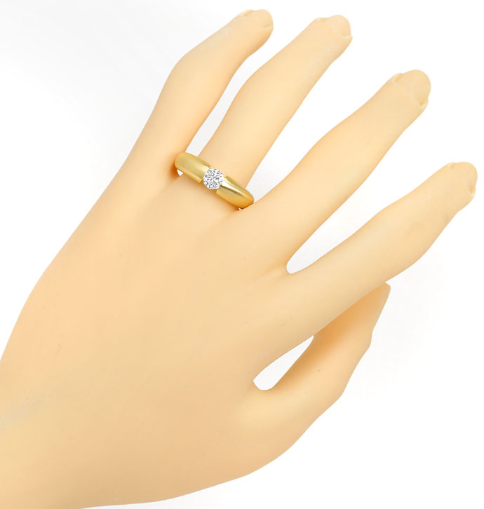 Foto 4, Massiver Gold Spannring mit 0,50ct Brillant in Gelbgold, R8424