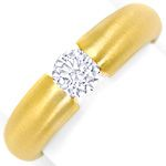 Massiver Gold Spannring mit 0,50ct Brillant in Gelbgold