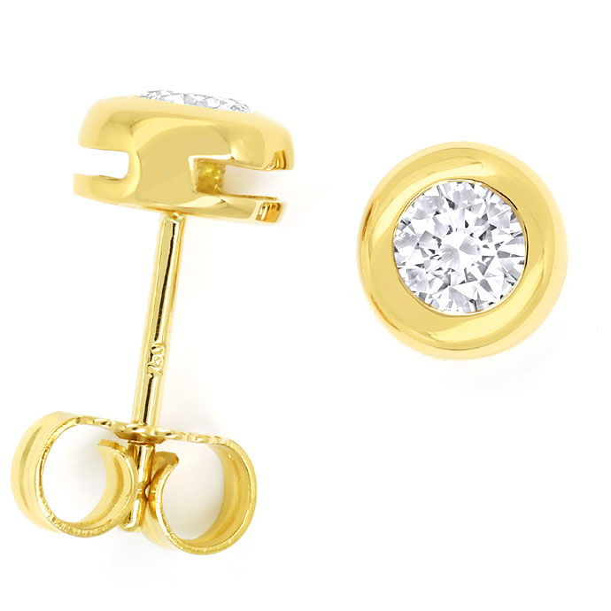 Foto 1 - Diamantohrstecker mit 0,58ct Brillanten in 18K Gelbgold, R8454