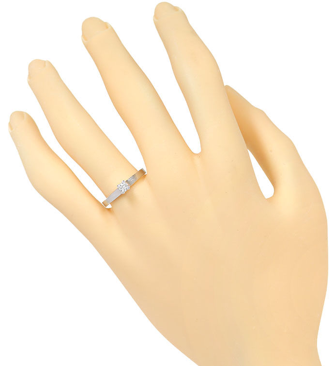 Foto 4 - Diamant Krappenring 0,12ct Brillant Solitär in Weißgold, R8479