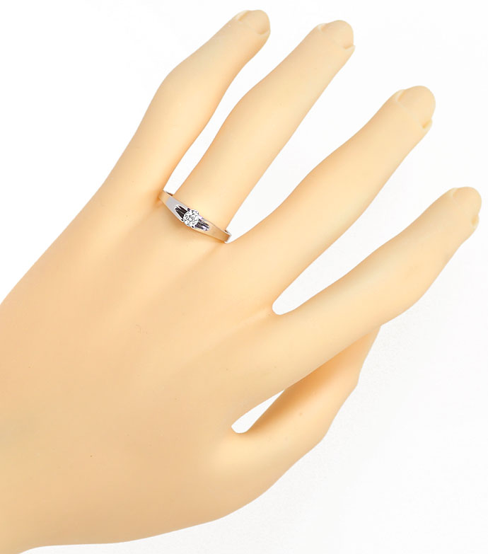 Foto 4 - Diamantring mit 0,19ct Brillant Solitär in 14K Weißgold, R8480