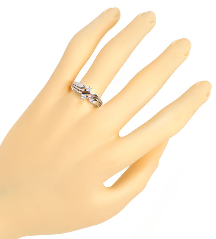 Foto 4 - Attraktiver Diamantring mit 0,125ct Brillanten in 585er, R8484