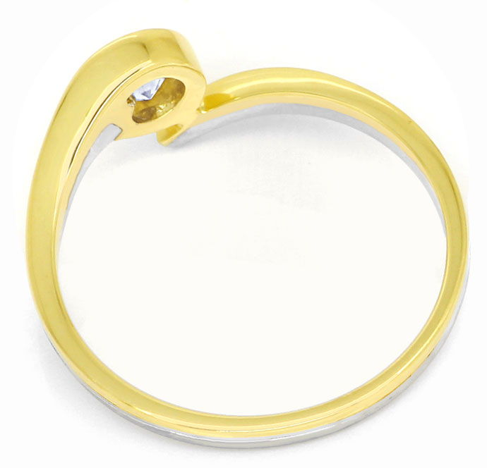 Foto 3, Diamantsolitärring mit 0,2ct River Brillant in 14K Gold, R8506