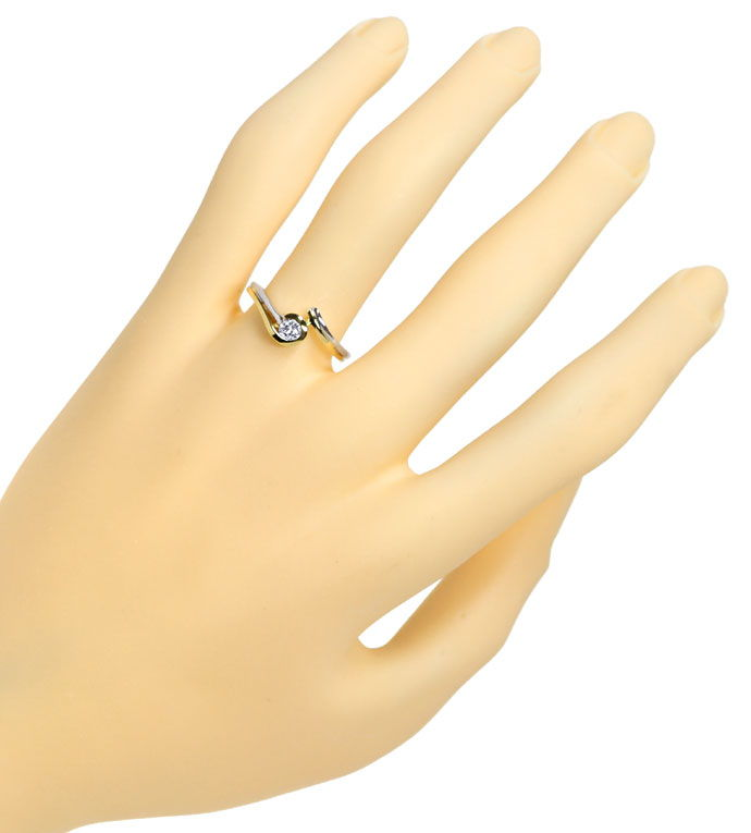 Foto 4 - Diamantsolitärring mit 0,2ct River Brillant in 14K Gold, R8506