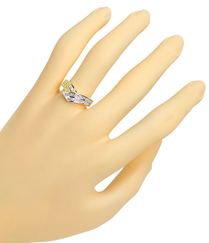 Foto 4, Diamanten Ring in V Form mit 24 Diamanten in 585er Gold, R8507