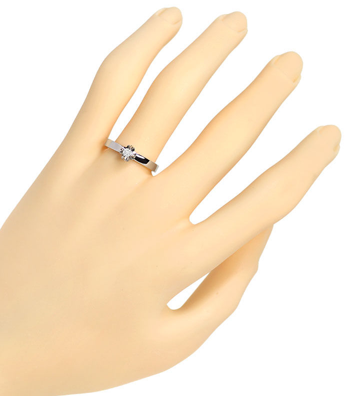 Foto 4 - Diamant Krappen Ring mit 0,09ct Brillant Solitär in 14K, R8532