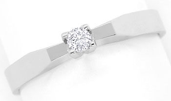 Foto 1 - Brillant River 0,09ct in Diamantring in 585er Weissgold, R8534