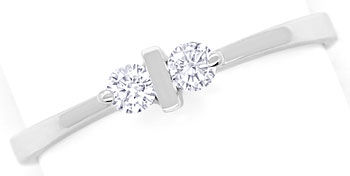 Foto 1, Feiner Diamantenring mit 0,16ct Brillanten in Weissgold, R8542