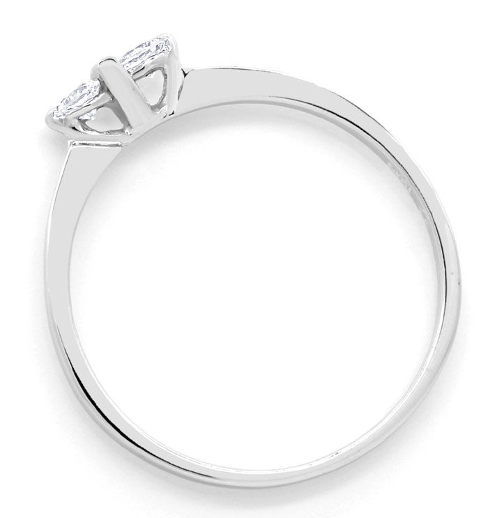 Foto 3, Feiner Diamantenring mit 0,16ct Brillanten in Weissgold, R8542