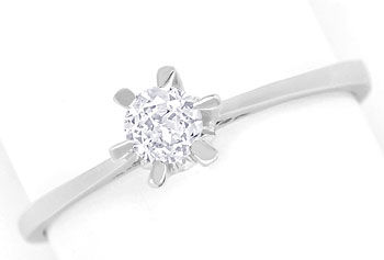Foto 1 - Diamantring mit 0,20ct Brillant Solitär in 14K Weißgold, R8627