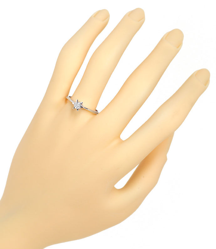 Foto 4 - Diamantring mit 0,20ct Brillant Solitär in 14K Weißgold, R8627