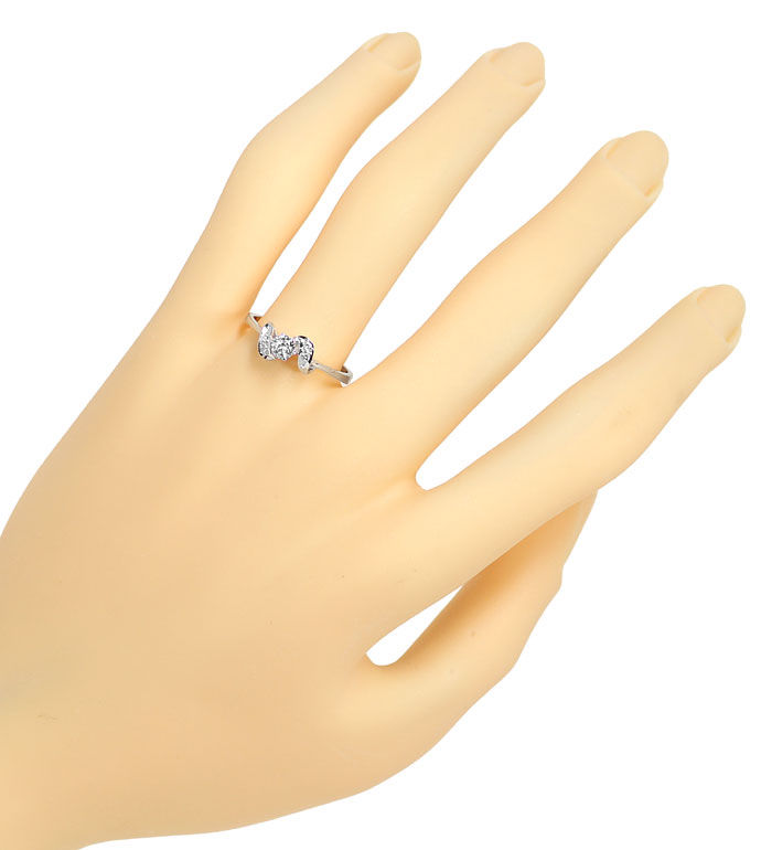 Foto 4, Edler Diamantring mit 0,24ct Diamanten in 14K Weissgold, R8629