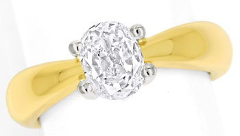 Foto 1 - Diamantring mit 0,88ct ovalem Diamanten in massiv 750er, R8650