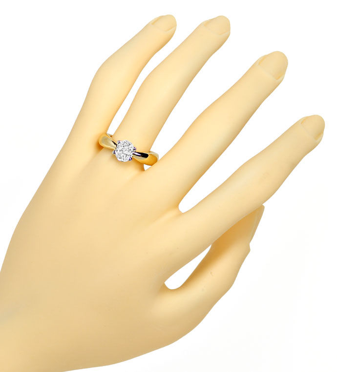Foto 4 - Diamantring mit 0,88ct ovalem Diamanten in massiv 750er, R8650
