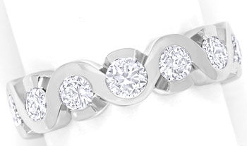Foto 1, Diamantring Allianzring mit 1,00ct Brillanten Weissgold, R8652