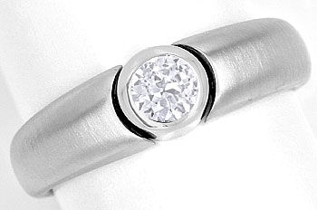 Foto 1, Design Diamantbandring mit 0,35ct Brillant in Weissgold, R8653