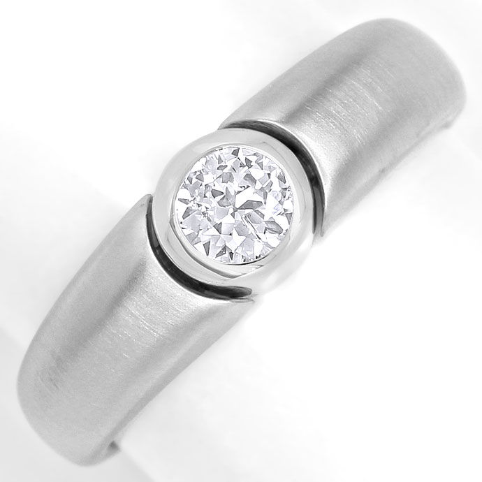 Foto 2, Design Diamantbandring mit 0,35ct Brillant in Weissgold, R8653