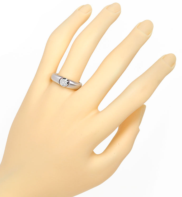 Foto 4, Design Diamantbandring mit 0,35ct Brillant in Weissgold, R8653