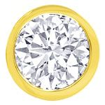 Diamant Zargenohrstecker mit 0,68ct Brillanten in 750er