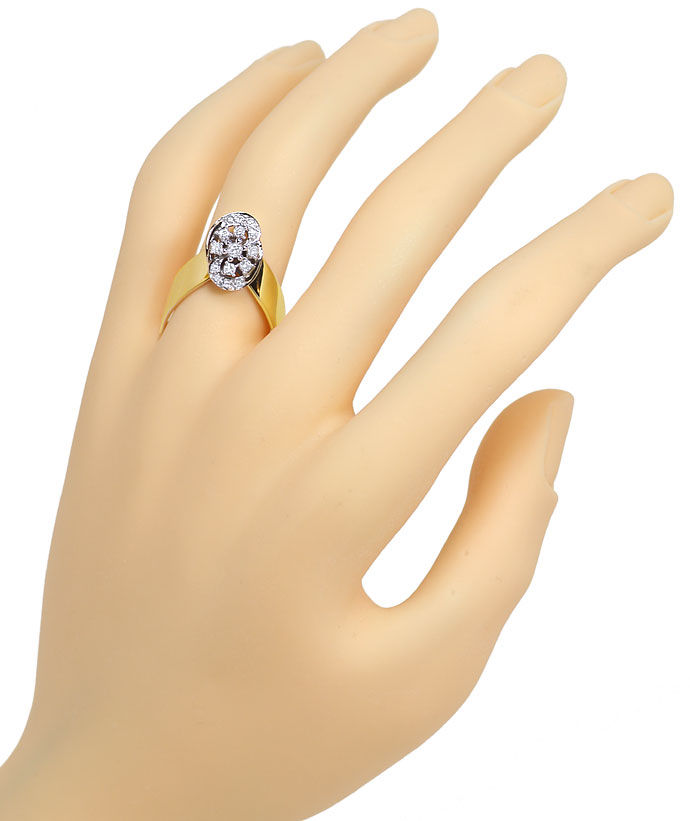 Foto 4, Designer Diamantring mit 0,27ct Brillianten in 14K Gold, R8863