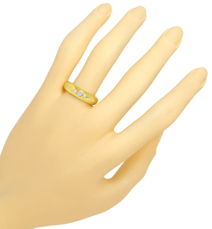Foto 4 - Goldbandring mit 0,2ct River Brillanten in 14K Gelbgold, R8965
