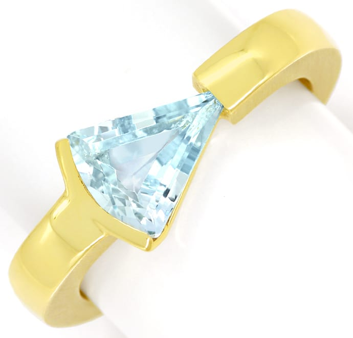 Foto 2 - Sensationeller Design Ring mit 2,1ct Triangel Aquamarin, R8967
