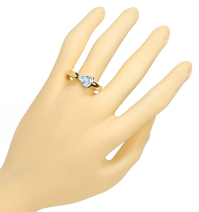 Foto 4 - Sensationeller Design Ring mit 2,1ct Triangel Aquamarin, R8967