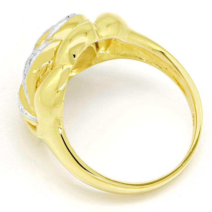 Foto 3, Dekorativer Diamanten Ring mit 8 Brillanten in 14K Gold, R8968